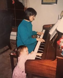 Baby Kathryn piano